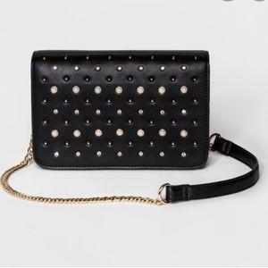 Cesca l Medium Crossbody Bag Pearl Embellishments